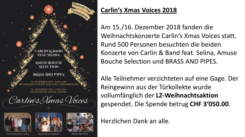 Carlin's Xmas Voices 2018_Reingewinn